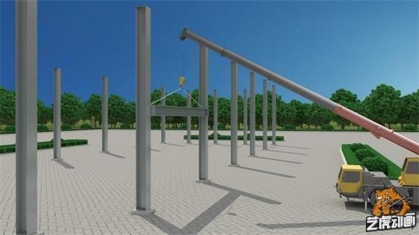 三维建筑动画