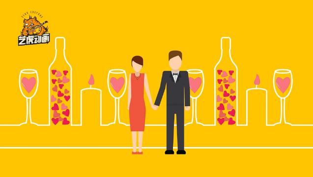 创意婚礼动画视频